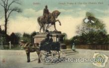and000049 - Gough Statue & City car Phoenix Park, Dublin Animal Drawn Postcard Post Card