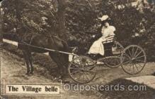 and000050 - The Village Belle Animal Drawn Postcard Post Card