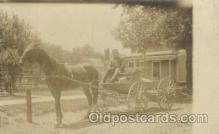 and000052 - Horse wagon Animal Drawn Postcard Post Card