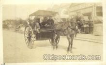 and000054 - Horse wagon Animal Drawn Postcard Post Card