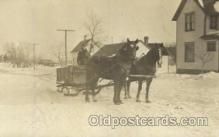 and000072 - Horses wagon Animal Drawn Postcard Post Card