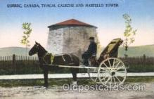 and000081 - Quebec, Canada, A modern caleche, horse Animal Drawn Postcard Post Card