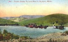 and000082 - Tia Juana river, Mexico Animal Drawn Postcard Post Card