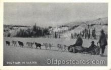 and000083 - Dog team in Alaska Animal Drawn Postcard Post Card