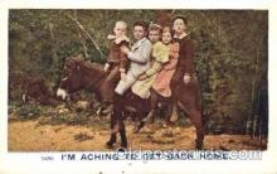 and000103 - Mule Animal Drawn Postcard Post Card