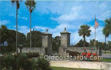 and000120 - Old City Gates St Augustine, Castillo de San Marcos National Monument Postcard Post Card