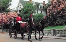 and000138 - Carriage & Lilacs Mackinac Island, Michigan Postcard Post Card