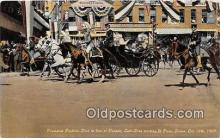 and000149 - President Porfirio Dioz, Parade El Paso Texas, USA Oct 16, 1909 Postcard Post Card