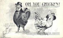 ani001105 - Hen and chicken Animal Postcard Post Card