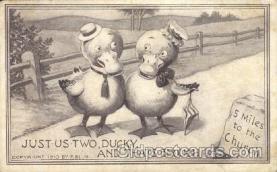 ani001111 - two ducky Animal Postcard Post Card