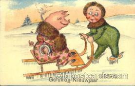 ani001114 - Gelukkig Nieuwjaar Animal Postcard Post Card