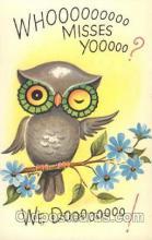 ani001123 - Owl Animal Postcard Post Card
