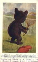 ani001145 - Sporty bear Animal Postcard Post Card