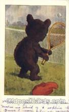ani001145 - Sporty bear Animal Postcard Post Card