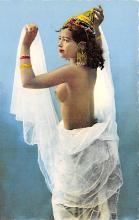 arb003238 - Donseuse au voile Arab Nude Postcard