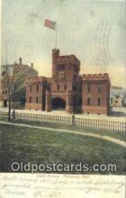 arm001001 - Fitchbury, Mass, MA USA State Armory Post Card Post Card