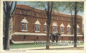 arm001010 - Framingham Mass, USA Armory Post Card Post Card