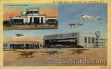 arp001008 - State Airport Hills Grove, Providence, RI USA Airport, Airports Post Card, Post Card