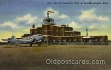 arp001017 - World Chamberlain Field, St Paul, Minneapolis, MN USA Airport, Airports Post Card, Post Card