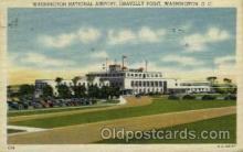arp001050 - Washington National Airport, Gravelly Point, Washington DC USA Airport, Airports Post Card, Post Card