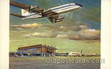 arp001073 - New Air Terminal Building, De Narodo, RI USA Airport, Airports Post Card, Post Card