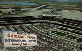 arp001083 - Chicago O Hare international Airport, Chicago, IL USA Airport, Airports Post Card, Post Card