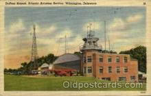 arp001098 - DuPoint Airport AtlanticAviation Service, Wilmington, DE USA Airport, Airports Post Card, Post Card