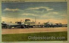 arp001112 - Chicago Municipal Airport, Chicago, IL USA Airport, Airports Post Card, Post Card