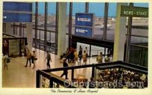 arp001119 - Ck 353 Concourse And News Stand O'Hare International Airport, Chicago, IL USA Airport, Airports Post Card, Post Card