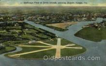 arp001120 - Davis islands And Airport, Tampa, FL USA Airport, Airports Post Card, Post Card