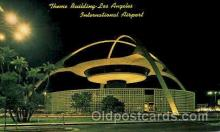 arp001138 - Theme Building, Los Angeles International Airport, Los Angeles, CA USA Airport, Airports Post Card, Post Card