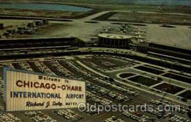 arp001162 - Chicago O Hare international Airport, Chicago, IL USA Airport, Airports Post Card, Post Card