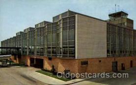 arp001165 - Detroit Metropolitan Airport Terminal Building, Detroit, MI USA Airport, Airports Post Card, Post Card