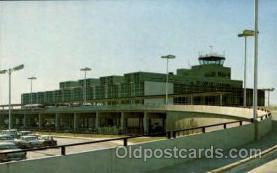 arp001167 - Detroit Metropolitan Airport Terminal Building, Detroit, MI USA Airport, Airports Post Card, Post Card