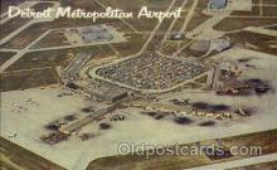 arp001176 - Detroit Metropolitan Airport Terminal Building, Detroit, MI USA Airport, Airports Post Card, Post Card