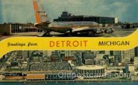 arp001177 - Detroit Metropolitan Airport Terminal Building, Detroit, MI USA Airport, Airports Post Card, Post Card