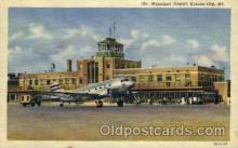 arp001198 - Municipal Airport, Kansas City, MO USA Airport, Airports Post Card, Post Card