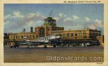 arp001200 - Municipal Airport, Kansas City, MO USA Airport, Airports Post Card, Post Card