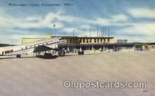 arp001205 - Williamsport Airport, PA USA Airport, Airports Post Card, Post Card
