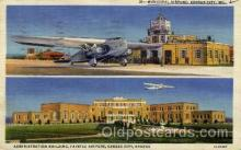 arp001218 - Administration Building, Fairfax Airport, Kansas City, KS USA Airport, Airports Post Card, Post Card
