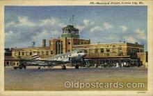 arp001221 - Municipal Airport, Kansas City, MO USA Airport, Airports Post Card, Post Card