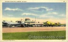 arp001268 - Chicago Municipal Airport, Chicago, IL USA Airport, Airports Post Card, Post Card