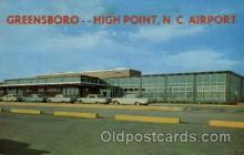 arp001275 - Administration Building Greenboro High Point Airport, NC USA Airport, Airports Post Card, Post Card