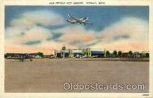 arp001277 - Detroit City Airport, Detroit, MI USA Airport, Airports Post Card, Post Card