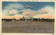 arp001279 - Detroit City Airport, Detroit, MI USA Airport, Airports Post Card, Post Card