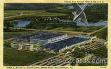 arp001295 - Aircraft Palnt, Middle River, Baltimore, MD USA Airport, Airports Post Card, Post Card