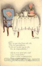 art052059 - Setting table Artist Signed Jenny Nystrom, Postcard Post Card
