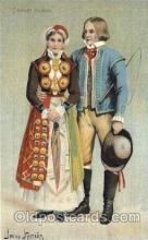 Skanskt brudpar Artist Signed Jenny Nystrom, Postcard Post Card