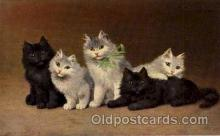 art151102 - Series 1002 Artist Sperlich Cat, Cats Post Card Post Card