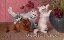 art151106 - Series 1509 Artist Sperlich Cat, Cats Post Card Post Card